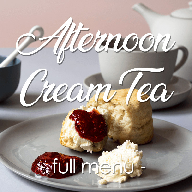 afternoon cream tea menu